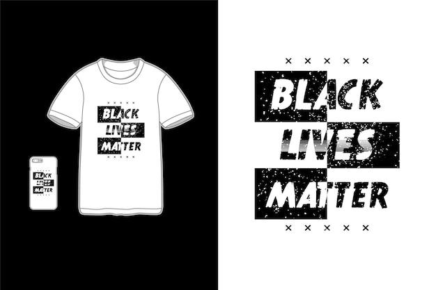 Черная жизнь имеет значение типография