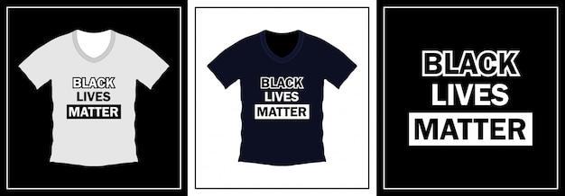 黒の生活はタイポグラフィtシャツデザインを重要です。イラストテンプレート