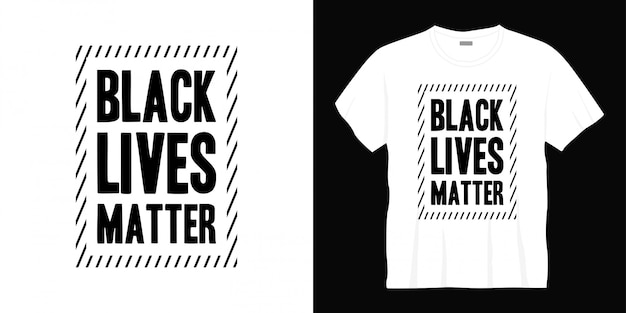ブラックライフマタータイポグラフィtシャツデザイン