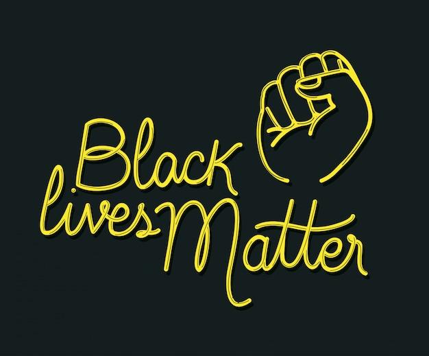 Черный живет материей с кулаком