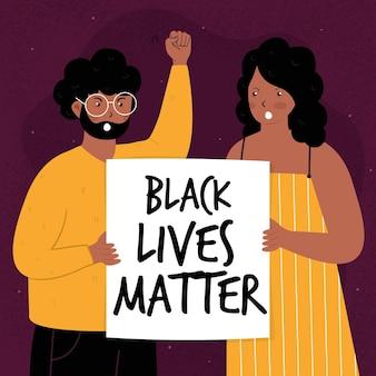 Black lives matter Premium Vector