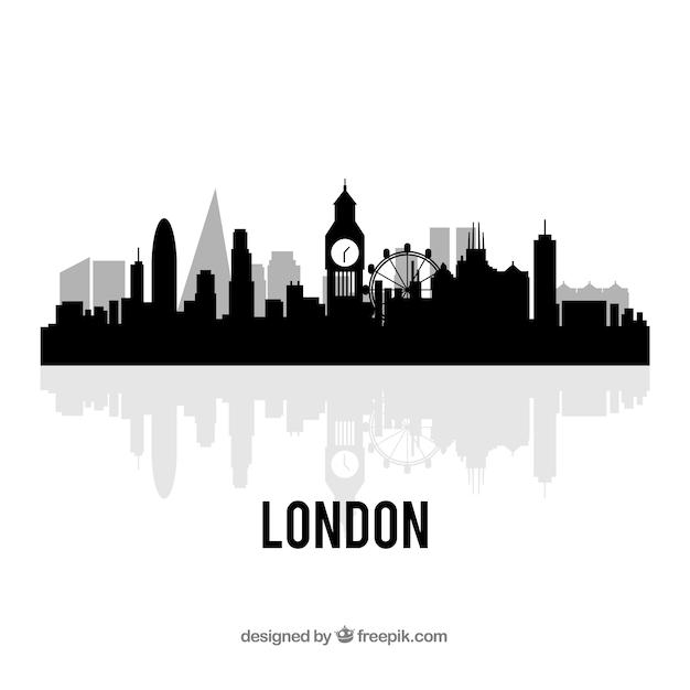 London Vectors Photos And Psd Files Free Download Rh Freepik Com Simple Skyline Silhouette Vector Map Of