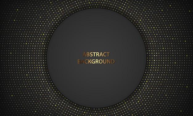 金色の装飾と黒の豪華な円の形の背景