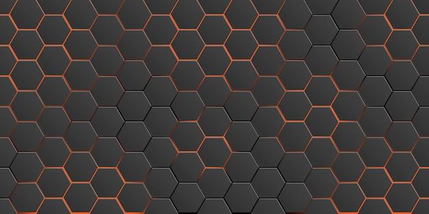 黒の豪華な未来的な抽象的な背景に幾何学的要素と赤のグラデーション