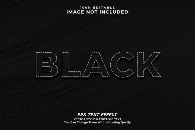 Black luxury text effect