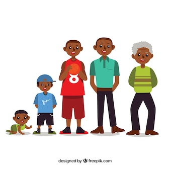 Black man in different ages