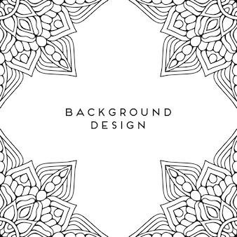 Black mandala background