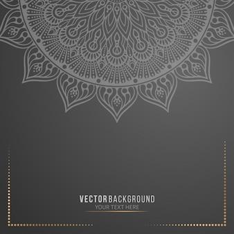 Black mandala background