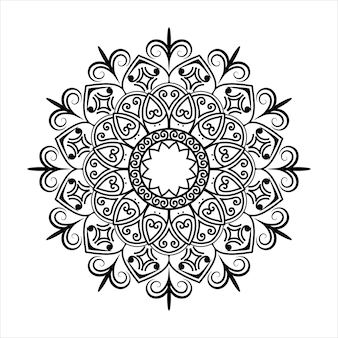 디자인을 위한 블랙 만다라, 헤나를 위한 만다라 원형 패턴 디자인