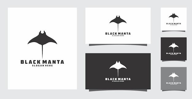 Черный логотип манты