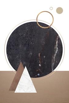Black marble card
