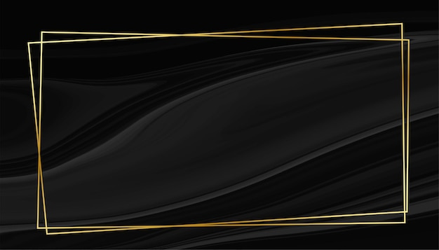 Black marble style background with golden frame