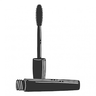 Black mascara brush.