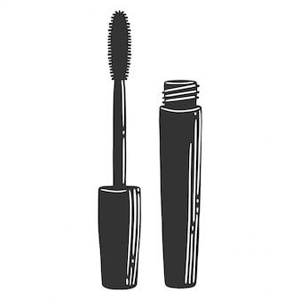 Black mascara brush