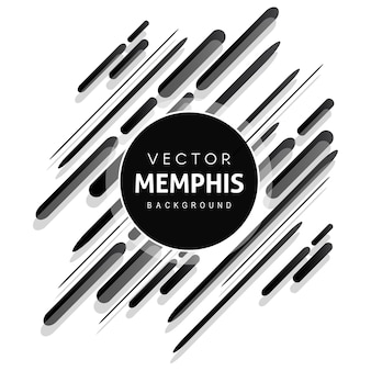 Black memphis vector background