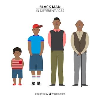 Collezione uomo nero in epoche diverse
