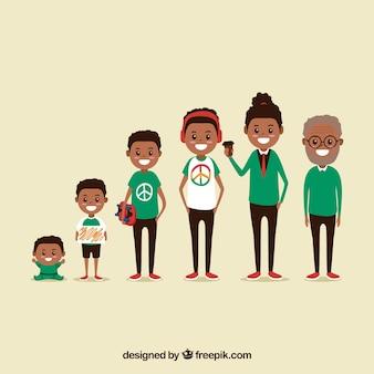 Коллекция чернокожих мужчин в разном возрасте