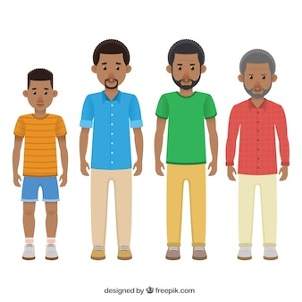 Black men in different ages