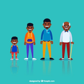 Black men in different ages