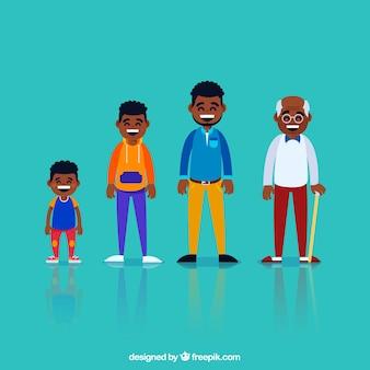 Черные люди разного возраста