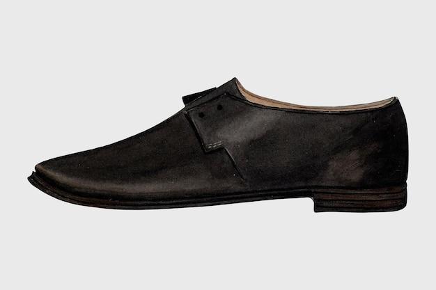 Vettore di scarpe da uomo nere, remixato dall'opera d'arte di jessie m. benge
