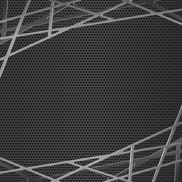 ブラックメタルグリル抽象的な背景