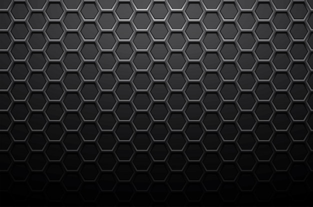 Black metal steel plate background or stainless texture background vector honeycomb