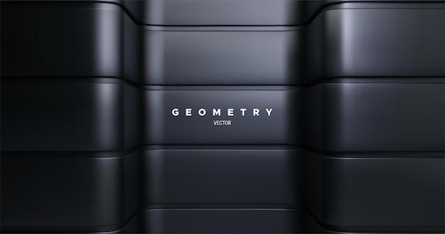 Black metallic architectural background