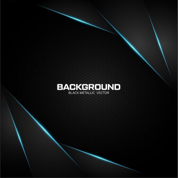 Black metallic background with blue shiny