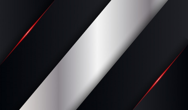 Black metallic red shiny tech fold shadow background