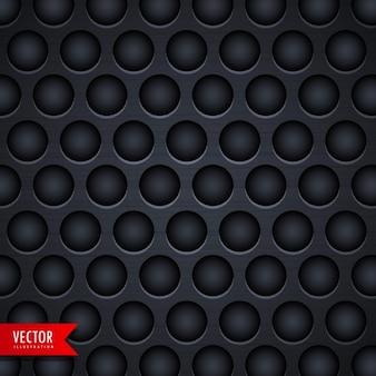 Black metallic texture with holes Free Vector