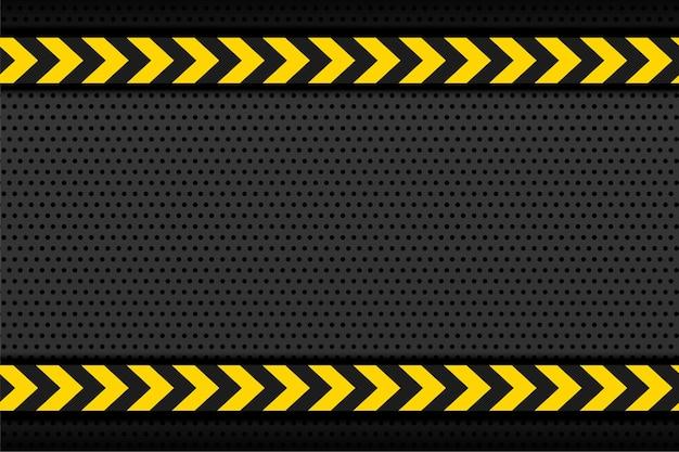 노란색 줄무늬 화살표가있는 블랙 메탈릭