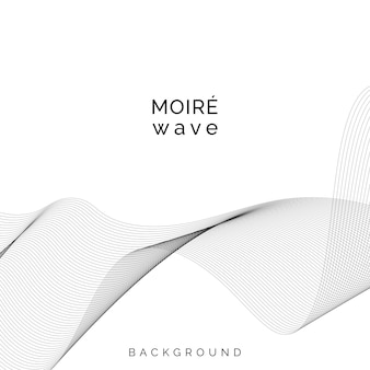 Black moiré wave on white background