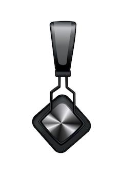 Черный музыкальный наушник или игровая гарнитура на белом