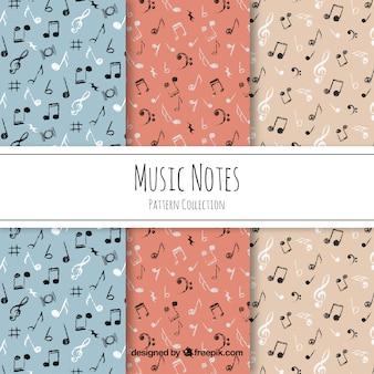 Black music notes pattern