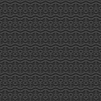 Черный морской бесшовный узор со стилизованными якорями