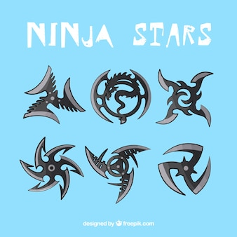 Black ninja stars collection