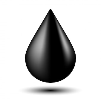 Black oil droplet isolated illustration