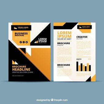 Black and orange business brochure template