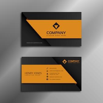Black and orange business card