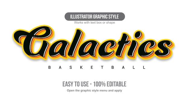 Black and orange cursive sports text effect