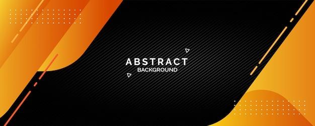 Black orange gradient abstract banner
