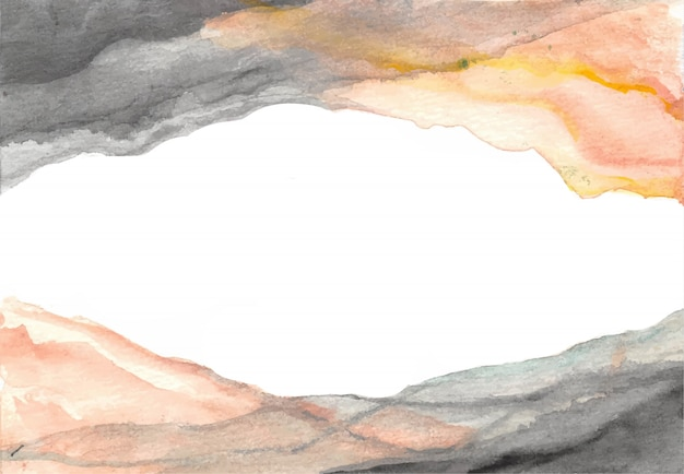 Black orange shadow layering watercolor background abstract