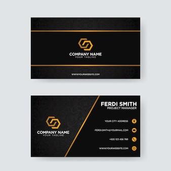 Black ornament business card