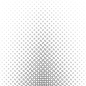 黒い楕円形のパターンの背景
