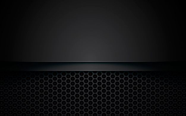 Black overlap background on hexagon