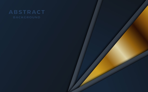 Black overlap layer background with golden shape.