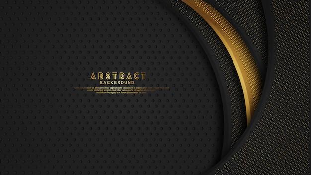 黒は、金色の輝きの効果を持つレイヤーの背景をオーバーラップします。