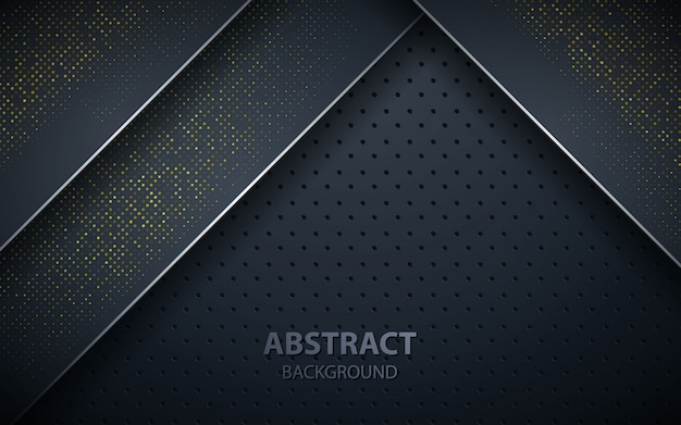 Black overlap layers realistic decoration