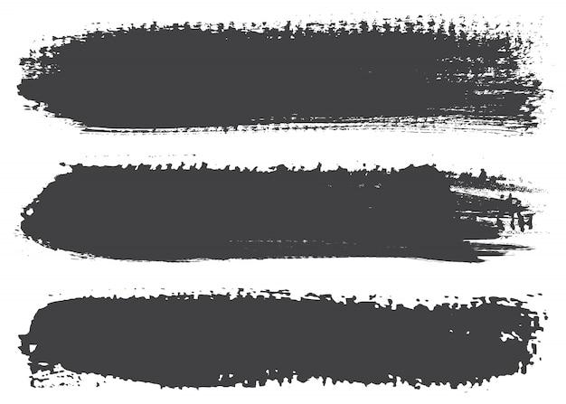 Черные линии краски